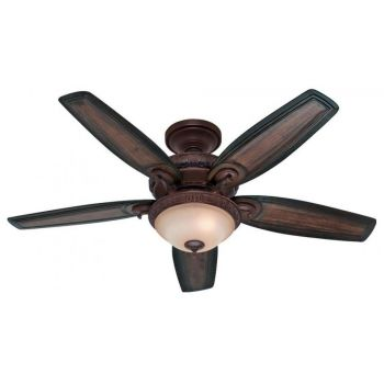 "Hunter Prestige Claymore 54"" Indoor Ceiling Fan in Bronze/Brown"