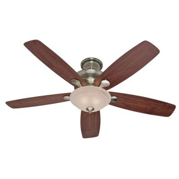 "Hunter Regalia 60"" 3-Light Indoor Ceiling Fan in Brushed Nickel/Chrome"