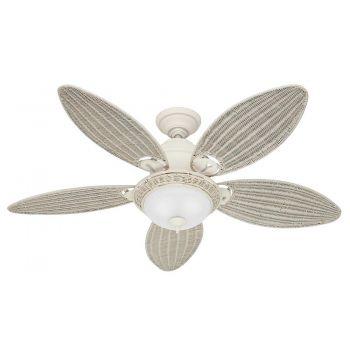 "Hunter Caribbean Breeze 54"" Ceiling Fan in Textured White"