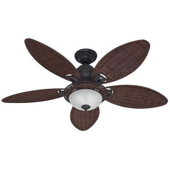 "Hunter Caribbean Breeze 54"" Ceiling Fan in Weathered Bronze"