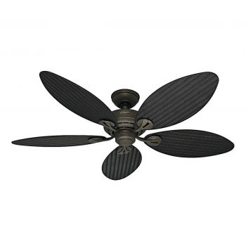 "Hunter Bayview 54"" Indoor/Outdoor Ceiling Fan in Provencal Gold"