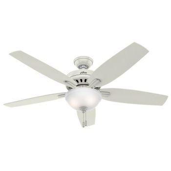 "Hunter Newsome 56"" 2-Light Indoor Ceiling Fan in White"