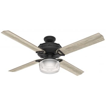 "Hunter Brunswick 60"" LED Smart Ceiling Fan in Iron/Pewter"