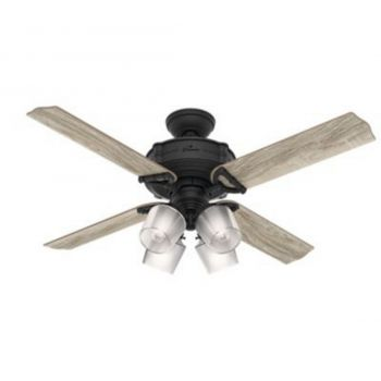 "Hunter Brunswick 52"" 4-Light LED Indoor Ceiling Fan in Iron/Pewter"