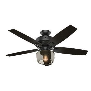 "Hunter Bennett 52"" LED Indoor Ceiling Fan in Black"