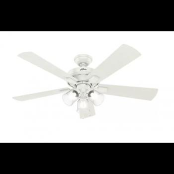 """Hunter Crestfield 52"""" 3-Light Ceiling Fan in Fresh White"""
