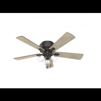 "Hunter Crestfield 52"" Hugger 3-Light Ceiling Fan in Noble Bronze"
