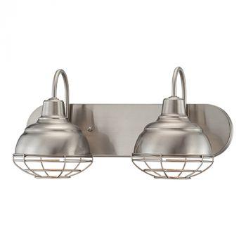 Millennium Lighting Neo-Industrial 2-Light Bath Vanity in Satin Nickel