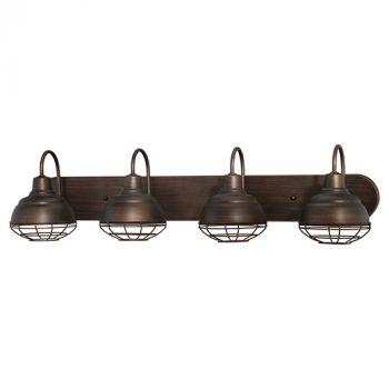 Millennium Lighting Neo-Industrial 4-Light Bath Vanity in Rubbed Bronze