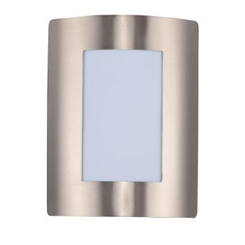 """Maxim Lighting View EE 8"""" Outdoor White Wall Mount in Stainless Steel"""