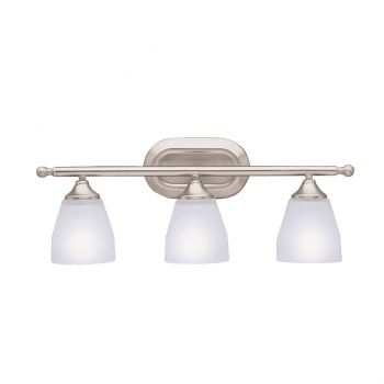 Kichler Ansonia 3-Light Bath Vanity in Brushed Nickel