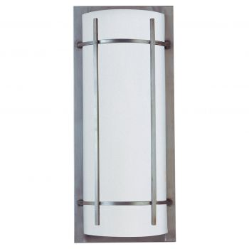 "Maxim Lighting Luna LED 9"" 2-Light Outdoor Wall Mount in Brushed Metal"