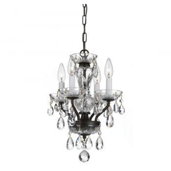 Crystorama Trad Crystal 4-Light Swarovski Chandelier in English Bronze