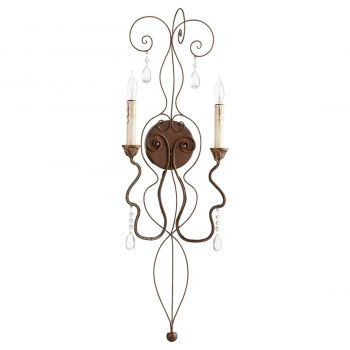 """Quorum Venice 32.5"""" 2-Light Wall Sconce in Vintage Copper"""
