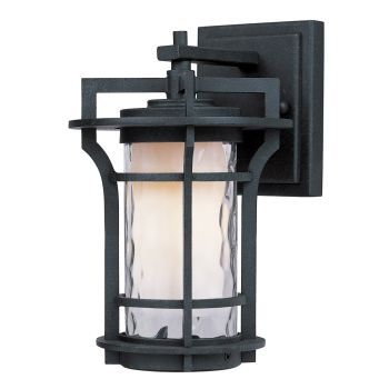 "Maxim Lighting Oakville 9.5"" LED Outdoor Water Wall Mount in Black Oxide"