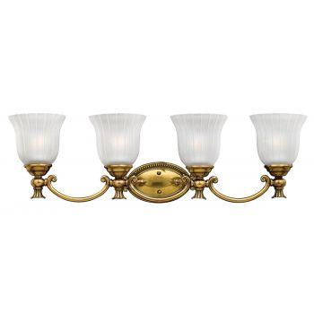 Hinkley Francoise 4-Light Bathroom Vanity Light in Burnished Brass