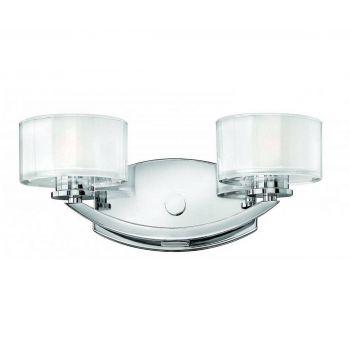 Hinkley Meridian 2-Light Bathroom Vanity Light in Chrome