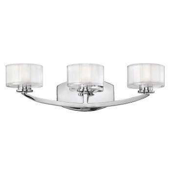 Hinkley Meridian 3-Light Bathroom Vanity Light in Chrome