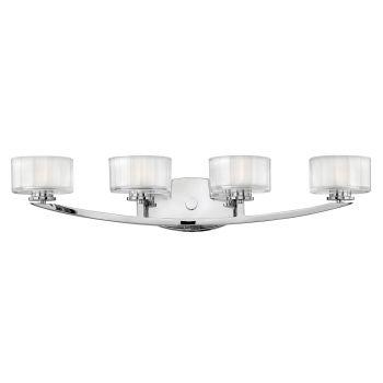 Hinkley Meridian 4-Light Bathroom Vanity Light in Chrome