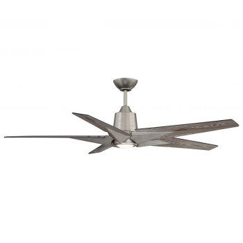 "Savoy House Buckenham 56"" 5-Blade LED Ceiling Fan in Aged Pewter"