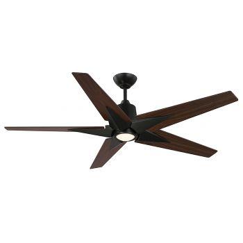"Savoy House Buckenham 56"" 5-Blade LED Ceiling Fan in English Bronze"