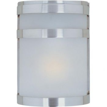 Maxim Lighting Arc LED 1-Light LED Outdoor Wall Lantern in Stainless Steel