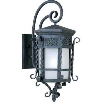 """Maxim Scottsdale LED Outdoor 28"""" Wall Sconce in Country Forge"""