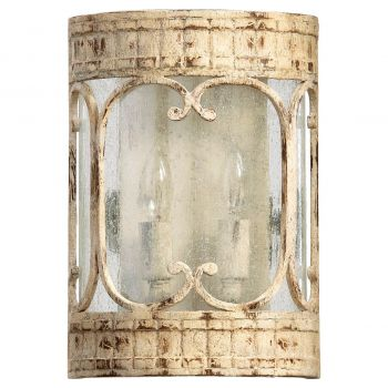 """Quorum Florence 11.25"""" 2-Light Wall Sconce in Persian White"""