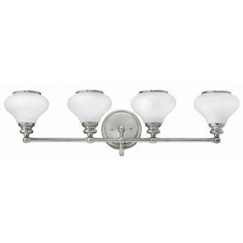 Hinkley Ainsley 4-Light Bathroom Vanity Light in Polished Nickel