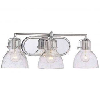 """Minka Lavery 3-Light 23"""" Bathroom Vanity Light in Chrome"""