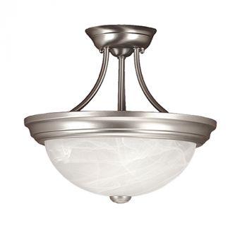 Millennium Lighting 500 Series 2-Light Semi-Flush in Satin Nickel