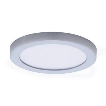 "Maxim Lighting Wafer LED 5"" Round Ceiling Light in Satin Nickel"