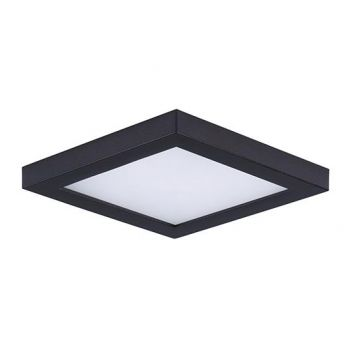 "Maxim Lighting Wafer LED 4.5"" Square Ceiling Light in Bronze"