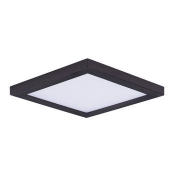 "Maxim Lighting Wafer LED 6.25"" Square Ceiling Light in Bronze"