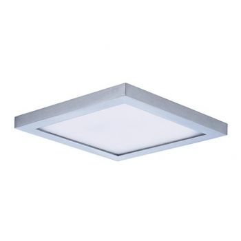 "Maxim Lighting Wafer LED 6.25"" Square Ceiling Light in Satin Nickel"