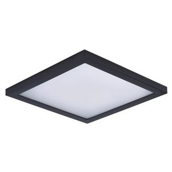 "Maxim Lighting Wafer LED 9"" Square Ceiling Light in Bronze"