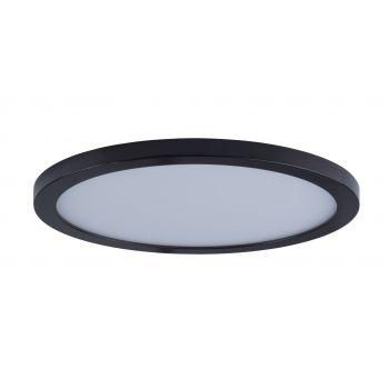 "Maxim Lighting Wafer LED 15"" Round Ceiling Light in Bronze"