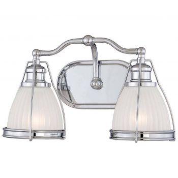 """Minka Lavery 2-Light 15"""" Bathroom Vanity Light in Chrome"""