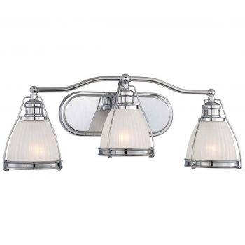 """Minka Lavery 3-Light 24"""" Bathroom Vanity Light in Chrome"""