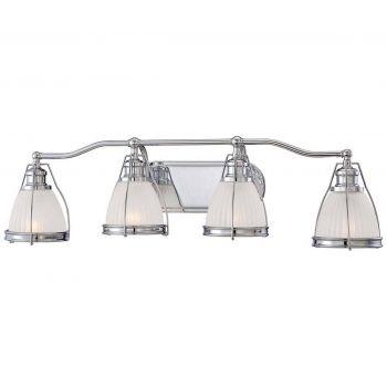 """Minka Lavery 4-Light 33"""" Bathroom Vanity Light in Chrome"""