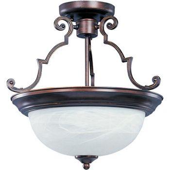 Maxim Lighting Essentials 3-Light Semi-Flush Mount in Oil Rubbed Bronze