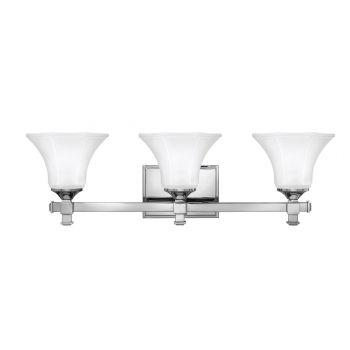 Hinkley Abbie 3-Light Bathroom Vanity Light in Chrome