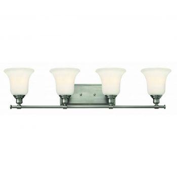Hinkley Colette 4-Light Bathroom Vanity Light in Brushed Nickel