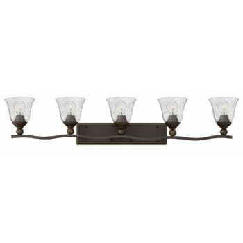 Hinkley Bolla 5-Light Bathroom Vanity Light in Olde Bronze with Clear Glass  Seedy