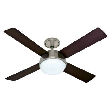 "Hunter Arvada 52"" LED Indoor Ceiling Fan in Brushed Nickel/Chrome"