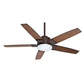 """Casablanca Zudio 56"""" LED Indoor Ceiling Fan in Bronze/Brown"""