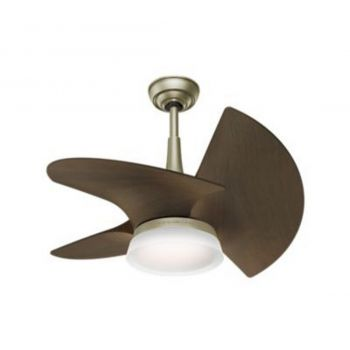 "Casablanca Orchid 30"" LED Ceiling Fan in Pewter Revival"