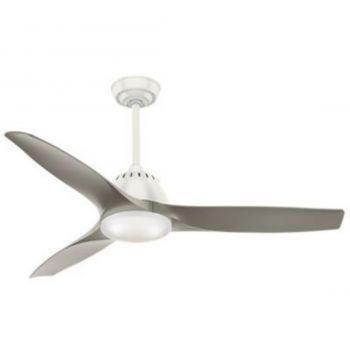 "Casablanca Wisp 52"" LED Cased White Glass Indoor Ceiling Fan in White"