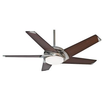 """Casablanca Stealth 54"""" LED Indoor LED Ceiling Fan in Nickel/Chrome"""