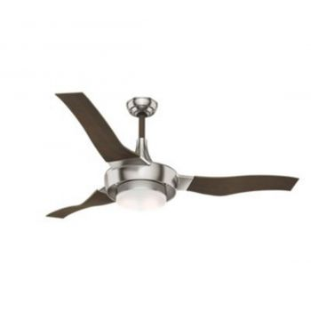 """Casablanca Perseus 64"""" LED Ceiling Fan in Brushed Nickel/Chrome"""